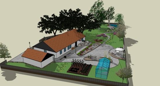 Trädgårdsdesign i 3D