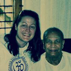 Annelie med Pattabi Jois