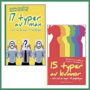 17 typer av män & 15 typer av kvinnor - och vad de säger till psykologen