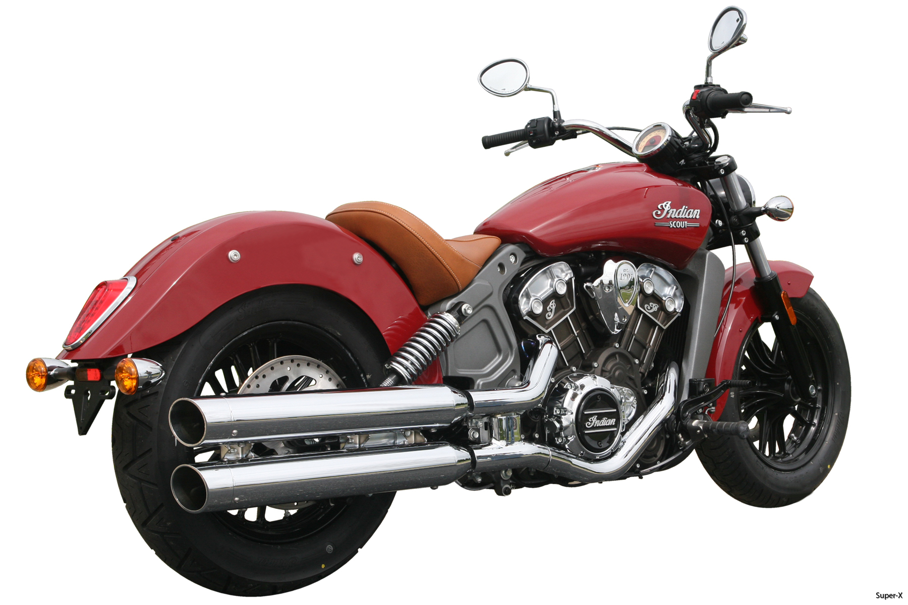 2015 Scout chrome mufflers 1