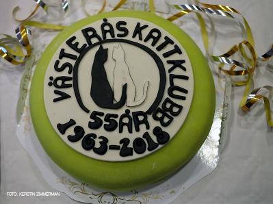 VRK firar 55 år 2018, så vad passade bättre än ett par jubileumstårtor till kaffet.