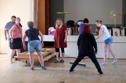 Städningen av lokalerna gick som en dans när alla hjälpte till.