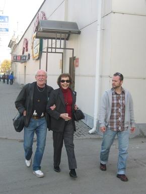 På väg till konserthuset i Chelyabinsk.