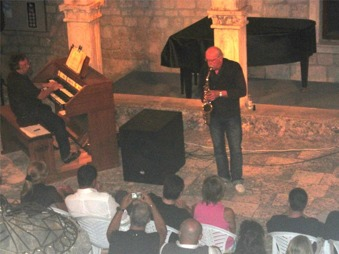 Konsertbild från ön Hvar i Kroatien.