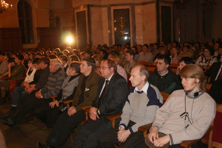 Sold out concert hall in Chelyabinsk 2008.