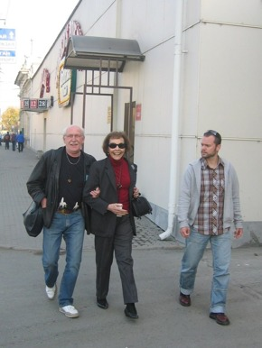 On our way to the concert hall in Chelyabinsk.
