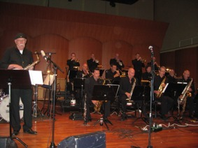 Concert with Sandviken Big Band at the Academy of Music and Drama, Gothenburg.
