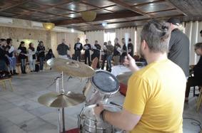 Rehearsal in Gaza-Almat`haf Hotel, Gaza.