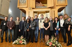"""Performers of the """"Jazz and Pipe Organ"""" festival in 2015."""