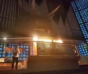 Orgelläktaren i Gedächtnis-Kirche.