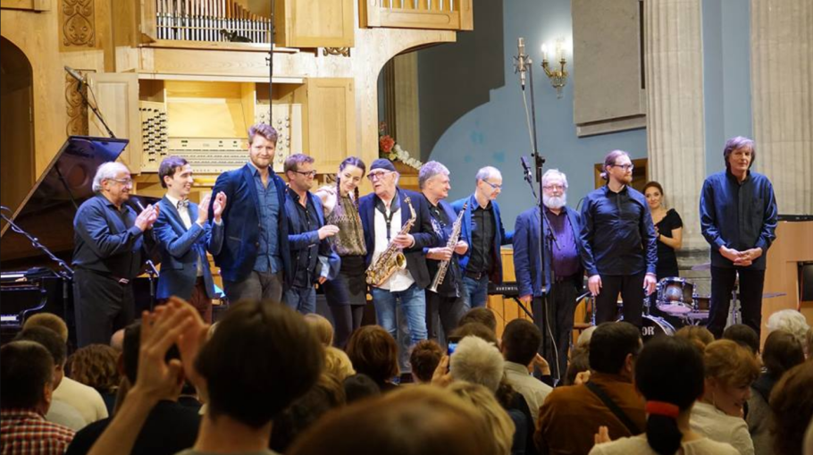 "The finaly concert at the sixth festival of ""Jazz and Pipeorgan"" in Tjeljabinsk, Russia. The artists are from Austria, Israel, Germany, Russia and Sweden."