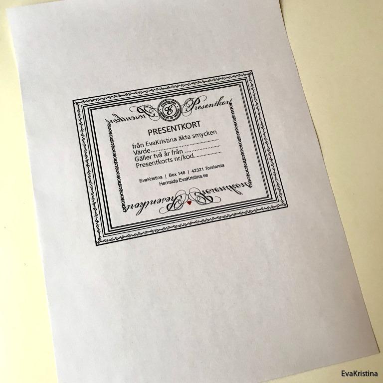 Presentkort att skriva at-w