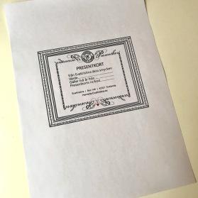 Presentkort att skriva ut