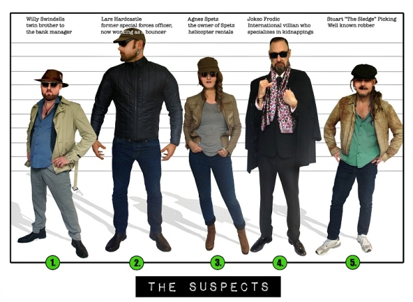 Spy Party - The 5 suspects, Spy:Co Mission 3.