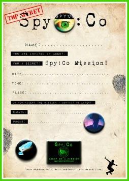 Free Spy Party invitation from Spy:Co