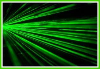 Dangerous laser beams with knitting yarn!