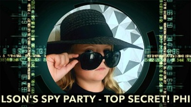 Free party Invitation as a film - Spy:Co Birthday Party