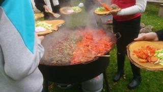 team building activities cooking food