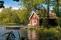 summer spring sweden cabin boat