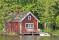 spring sweden cabin  boat dock