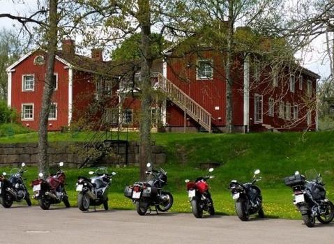 motorbikes nature hotel sweden
