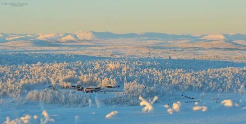 Vårt Safari Base där vi bor med våra hundar utanför Kiruna.
