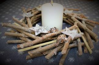 Stjärnkrans i trä - Stjärnkrans i trä