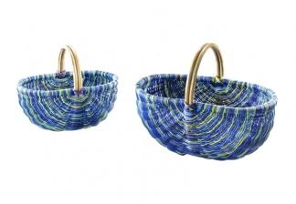 Rattankorgar i 5 fina färger - Blå
