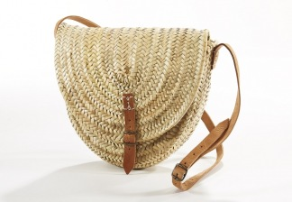 Palmbladsväska halvrunt - väska