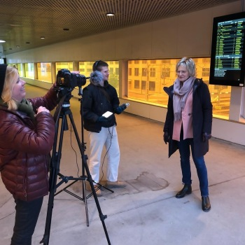 Vi filmar Ann-Christine på Lunds station