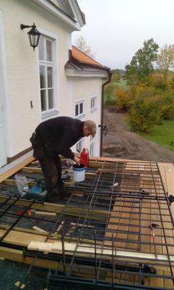 Tillverkning och montering av balkongräcke