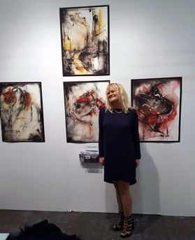 Dana Ingesson with her art