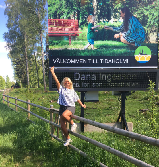 Digital poster for Danas ehibition in home city Tidaholm