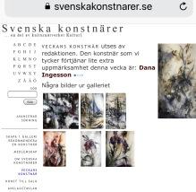 Artist of the week on Swedish culture network, Kultur1