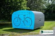 Dooman, Cykelgarage, Trygg förvaring, Minigarage, mopedgarage, Motorcykelgarage, barnvagsförvaring, www.dooman.se