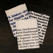 Kökshandduk Swedish poetry, 3 varianter