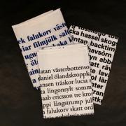 Kökshandduk Swedish poetry, 3 varianter
