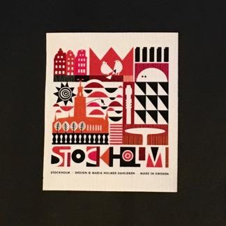 Disktrasa Stockholm,  2 färger - Disktrasa Sthlm, röd