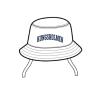 Kungsholmen bucket-hat - Kungsholmen solhatt, vit -  babystorlek