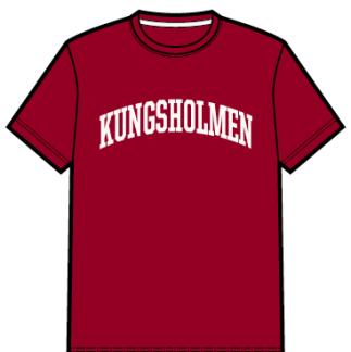 Kungsholmen T-shirt, herr - T-shirt, herrmodell, burgundy, S