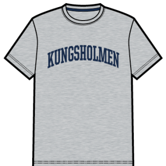 Kungsholmen T-shirt, herr - T-shirt, herrmodell, grå, S