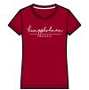 Kungsholmen T-shirt, dam - T-shirt, dammodell, burgundy, XL