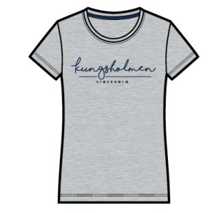 Kungsholmen T-shirt, dam - T-shirt, dammodell, grå, XS