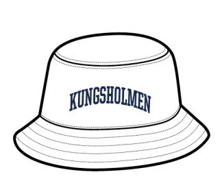 Kungsholmen bucket-hat - Kungsholmen solhatt, vit - herr