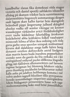 Kökshandduk Swedish poetry, 3 varianter - Swedish poetry