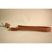 Skinnhalsband Brun
