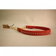 Skinnhalsband Röd