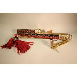 Skinnhalsband Guld - Dekorband med tofs - 45 cm