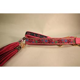 Skinnhalsband Rosa - Dekorband med tofs - 50 cm