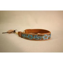 Skinnhalsband  Brun - Dekorband - 23 cm